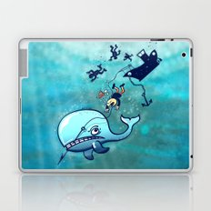 Whales are Furious! Laptop & iPad Skin