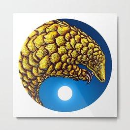 Return of the Golden Pangolin Metal Print