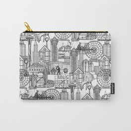 Seattle black white Carry-All Pouch