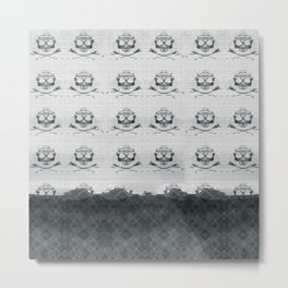 Mountain Skulls: Slight Blue Metal Print