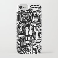 cafe iPhone & iPod Cases featuring CAFE by TortueMasquee