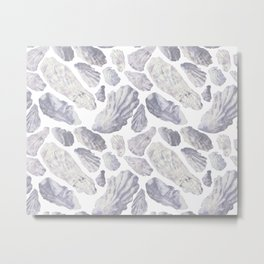 Sun Bleached Oysters Metal Print