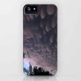 Wicked Mammatus Storm Clouds iPhone Case