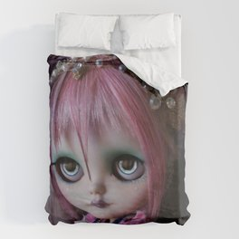 LITTLE OCTOPUS CUSTOM BLYTHE ART DOLL PINK NAVY Duvet Cover