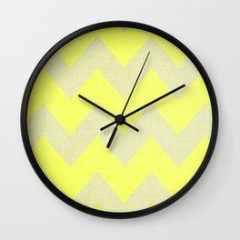 Jonquils & Daffodils - Yellow Chevron Wall Clock