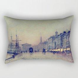 Greenock dockside by night by John Atkinson Grimshaw Rectangular Pillow