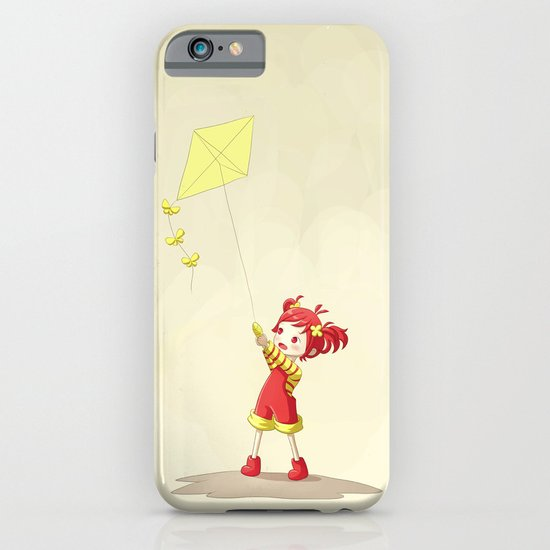 Girl with Kite iPhone & iPod Case
