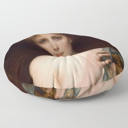 "Alexandre Cabanel ""Christina Nilsson as Pandora"" Floor Pillow"
