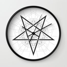 Baphomet Pentagram Star - Satanic sign Wall Clock