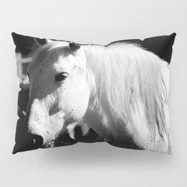 White Horse-Dark Pillow Sham