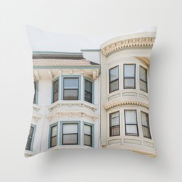 North Beach Blues in San Francisco Throw Pillow