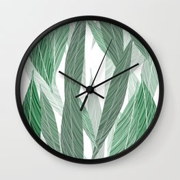 Leaves decoration Wall Clock