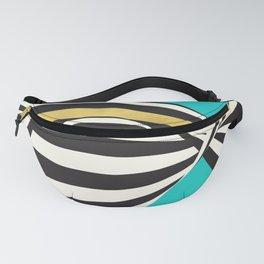 THINK! – Wavy Stripes on Luxury Blue Fanny Pack