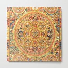 Buddhist Mandala Five Circles 2 Metal Print