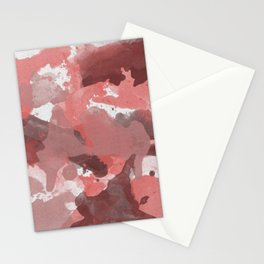 Red Splatters Watercolor Illustration - Patchy Camo Stationery Cards