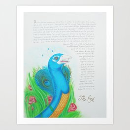 Peacock Cobra Art Print