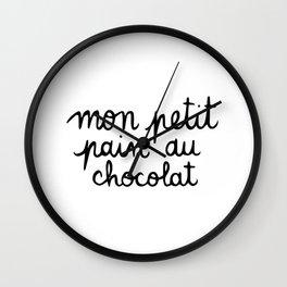 Mon petit pan au chocolat Wall Clock
