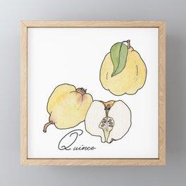 ABC fruit & vegetables Framed Mini Art Print