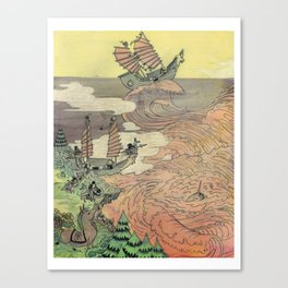Mu Guai and the Tiger's Eye, Panel 2 Canvas Print