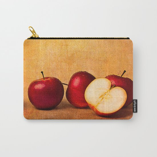 Apples In Red Panorama Carry-All Pouch