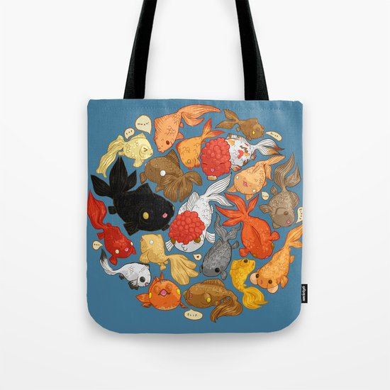For The Love Of Goldfish Tote Bag