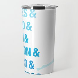 OBX - Towns of Hatteras Island, NC Outer Banks T-Shirt Travel Mug