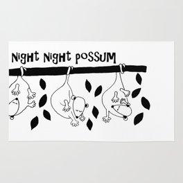 Night night possum Rug