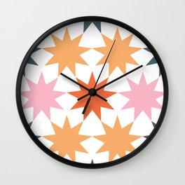 big stars big dreams pattern 3 Wall Clock
