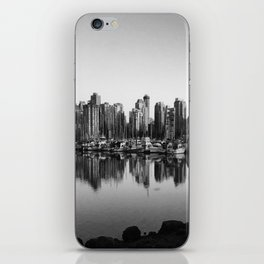Black and White City iPhone Skin