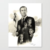 mad men Canvas Prints featuring Mad Men by Nithin Rao Kumblekar