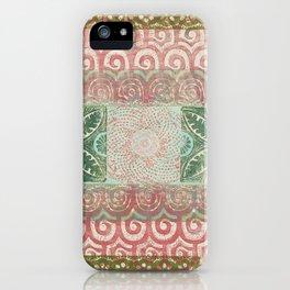 Monoprint 9 iPhone Case