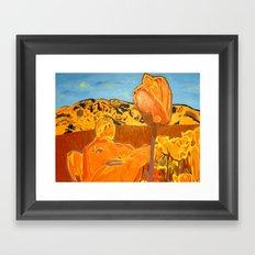 Orange Terrain Framed Art Print