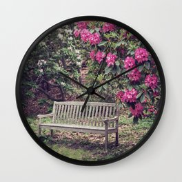 Rest Among the Flowers Wall Clock
