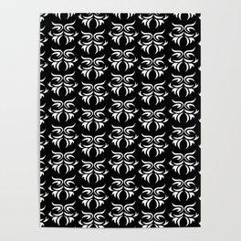tribal dark - pattern Poster