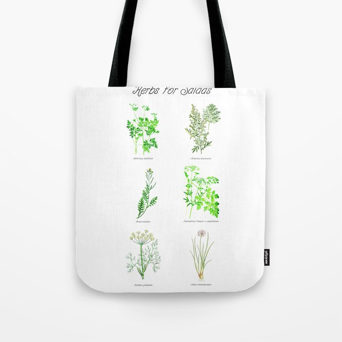 Herbs for Salads Tote Bag
