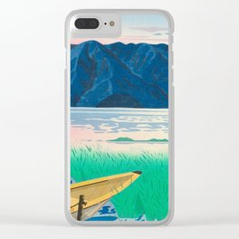 Tokuriki Tomikichiro Rice Field Lake Japan Japanese Woodblock Print Clear iPhone Case