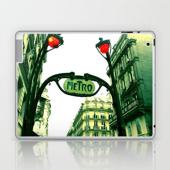 Metro in Paris Laptop & iPad Skin