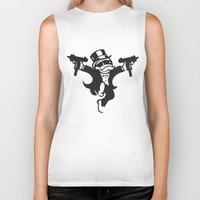 guns Biker Tanks featuring Monopoly / Guns by tshirtsz