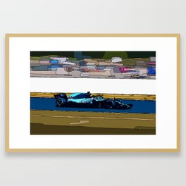 Formule 1 racing Framed Art Print