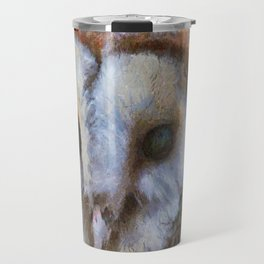 Tawny Owl In The Style of Camille Travel Mug