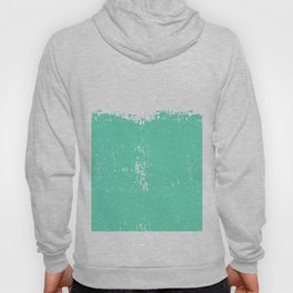 Abstract teal white modern artistic paint brushstrokes Hoody