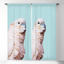 Parrot Photography   Pink Bird    Tropical   Exotic   Turquoise Art   Blush Pink Blackout Curtain