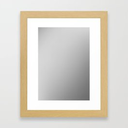 STEEL / Plain Soft Mood Color Blends / iPhone Case Framed Art Print