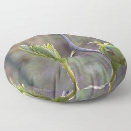 Green Rose Buds Floor Pillow