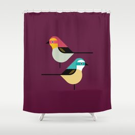 Prety Birds Shower Curtain