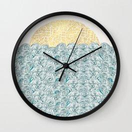 Sunny Tribal Seas Wall Clock
