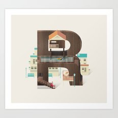 Resort Type - Letter R Art Print