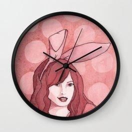 Polka Dot Bunny Wall Clock