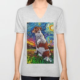Kooikerhondje Night Unisex V-Neck