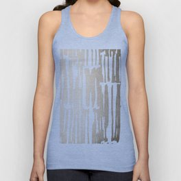 White Gold Sands Bamboo Stripes Unisex Tank Top